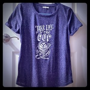 Maurices Take Life One Cup at a Time tee sz M